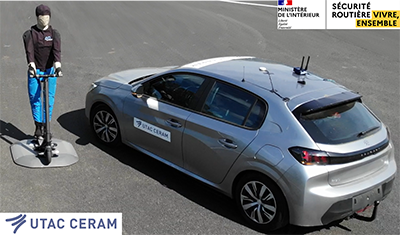 NEW TYPES OF INDIVIDUAL MOBILITY: UTAC CERAM TESTS ADAS SYSTEMS IN NEW USE CASES